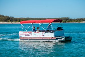 11 Seater BBQ Pontoon Boat from Bills Boat Hire Caloundra